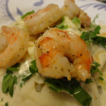 Recipe: Garlic Shrimp Alfredo Ravioli