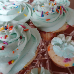 Recipe: Vanilla Sprinkle Cupcakes with Frosting