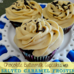 Recipe: Chocolate Buttermilk Cupcakes with Salted Caramel Frosting