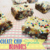 Chocolate Chip Sprinkle Blondies