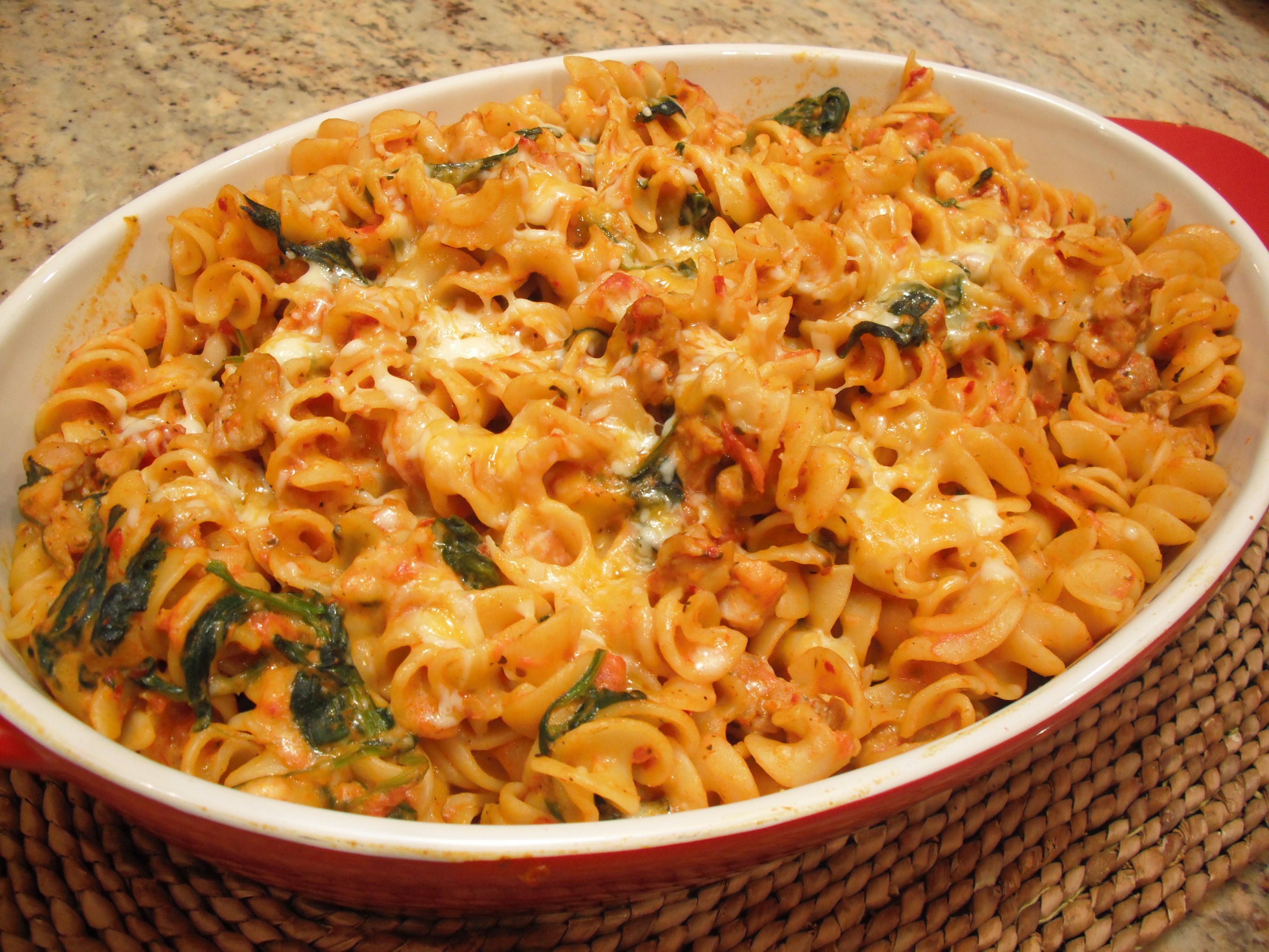 Italian chicken and spinach pasta recipes