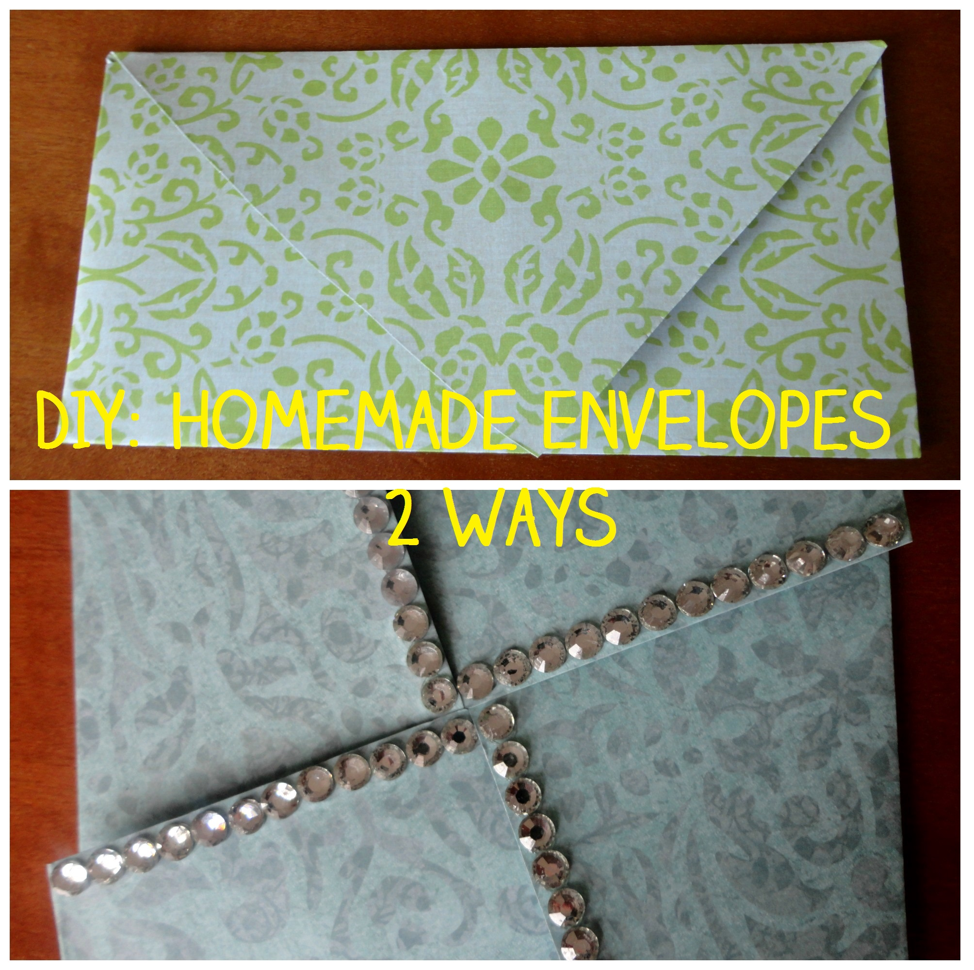 DIY: Homemade Envelopes 2 Ways