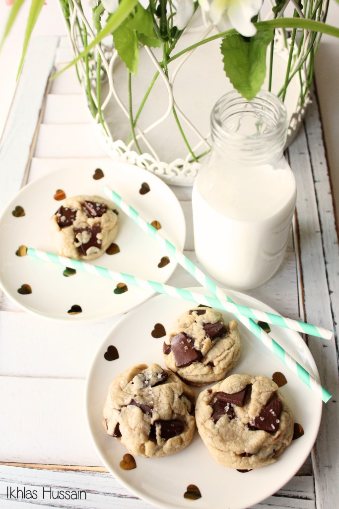 Chocolate Chunk Cookies with Sea Salt