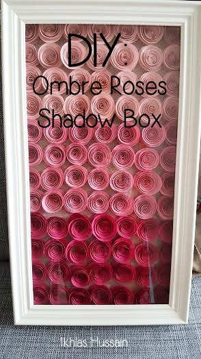 Ombre Roses Shadow Box