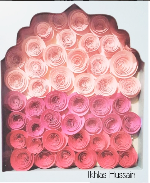DIY: Ombre Roses Shadow Box