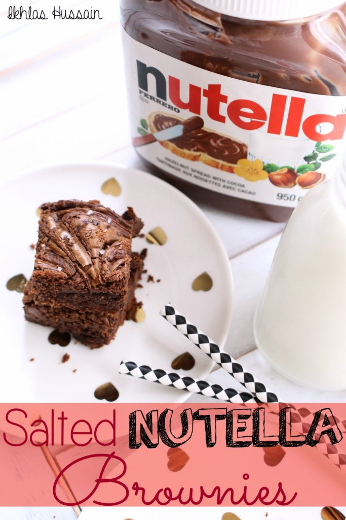 Salted Nutella Brownies